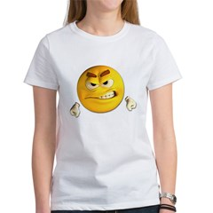 Angry Emoticon Smiley (Front) Women's T-Shirt