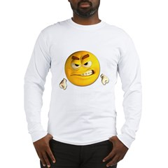 Angry Emoticon Smiley Long Sleeve T-Shirt
