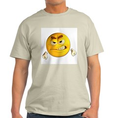 Angry Emoticon Smiley (Front) Light T-Shirt