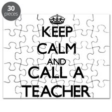 Keep calm and call a Teacher Puzzle