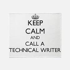 Keep calm and call a Technical Write Throw Blanket