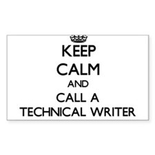 Keep calm and call a Technical Writer Decal