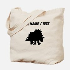 Triceratops Silhouette (Custom) Tote Bag
