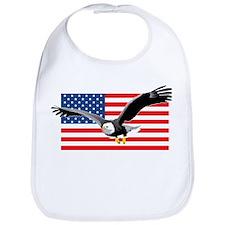 Bald Eagle and US Flag Bib