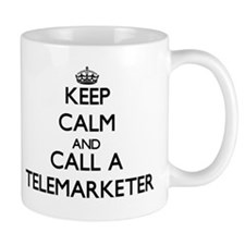 Keep calm and call a Telemarketer Mugs