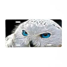 White Owl Aluminum License Plate