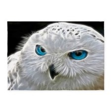 White Owl 5'x7'Area Rug