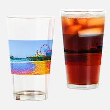 Funky Pixels Pier Drinking Glass