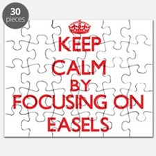 Keep Calm by focusing on EASELS Puzzle