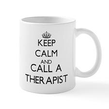 Keep calm and call a Therapist Mugs