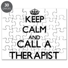 Keep calm and call a Therapist Puzzle