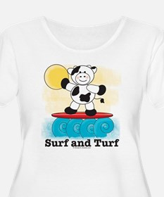 Cow Surfing Red Surfboard T-Shirt
