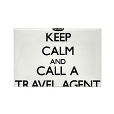 Keep calm and call a Travel Agent Magnets