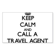 Keep calm and call a Travel Agent Decal