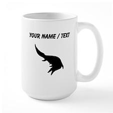 Mosasaurs Giganteus Silhouette (Custom) Mugs