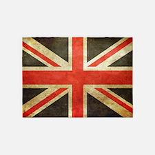 british flag-pillow 5'x7'Area Rug