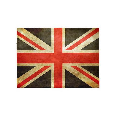 British Flag Pillow 5u0027x7u0027Area Rug