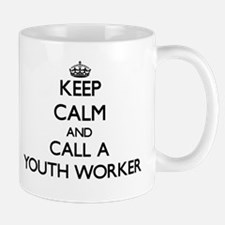 Keep calm and call a Youth Worker Mugs