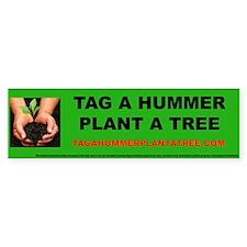 Tag A Hummer Bumper Bumper Sticker