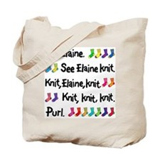 """See Elaine Knit"" Tote Bag"