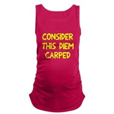 Consider this diem carped Maternity Tank Top