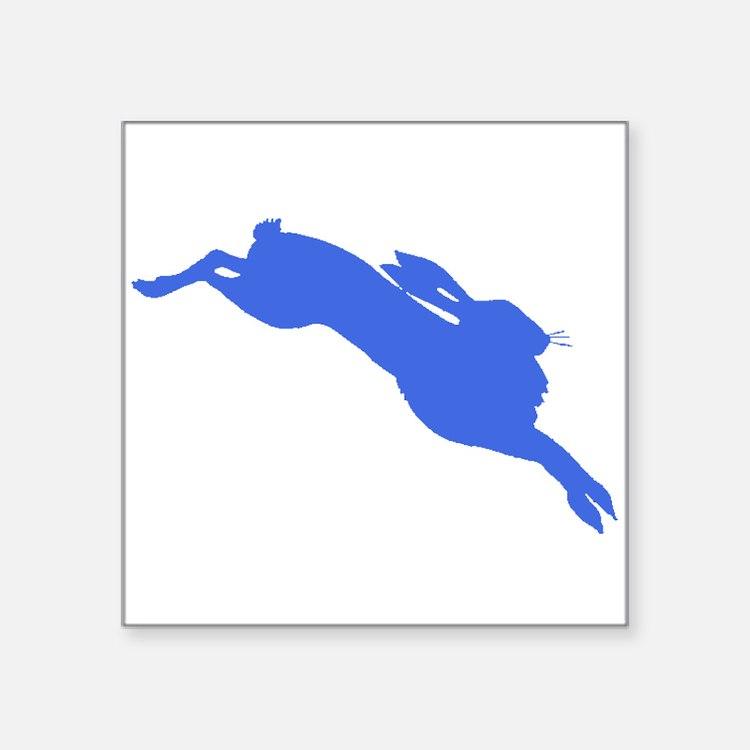 Blue Hare Sticker