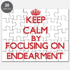 Keep Calm by focusing on ENDEARMENT Puzzle