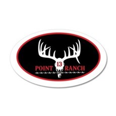 13 Point Ranch Logo Wall Decal