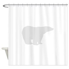 Grey Polar Bear Shower Curtain