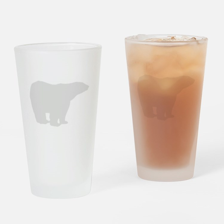 Grey Polar Bear Drinking Glass