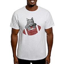 American Football Cat T-Shirt