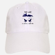 The lake is always a good idea Baseball Baseball Cap