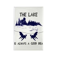 The lake is always a good idea Rectangle Magnet