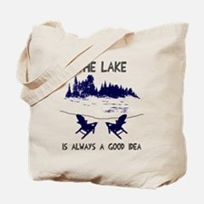 The lake is always a good idea Tote Bag