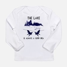The lake is always a go Long Sleeve Infant T-Shirt
