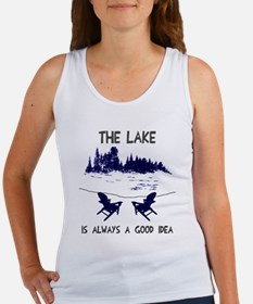 The lake is always a good idea Women's Tank Top