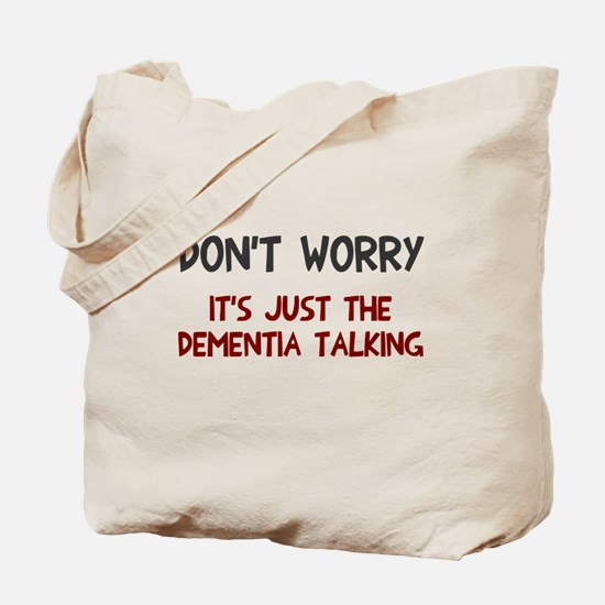 Dementia talking Tote Bag