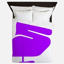 Purple Pelican Queen Duvet