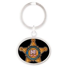 Unique Stars strips Oval Keychain