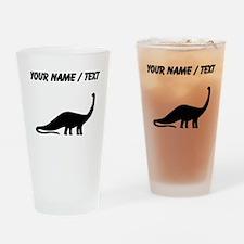 Brachiosaurus Silhouette (Custom) Drinking Glass