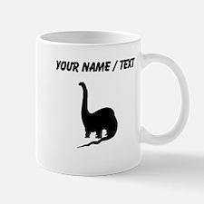 Brachiosaurus Silhouette (Custom) Mugs