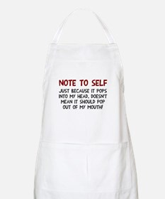 Note to self Apron
