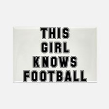 This girl knows football Rectangle Magnet