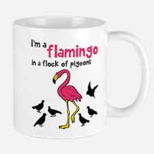 Flamingo Flock of Pigeons Mug