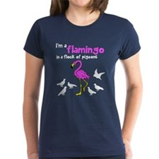 Flamingo Flock of Pigeons Tee