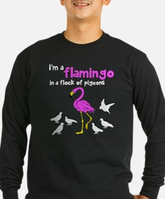 Flamingo Flock of Pigeons T