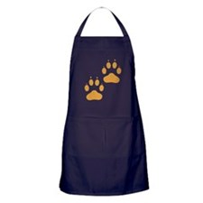 Brown Pawprints Apron (dark)
