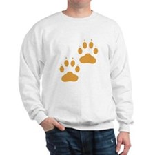Brown Pawprints Sweatshirt