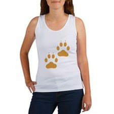 Brown Pawprints Tank Top