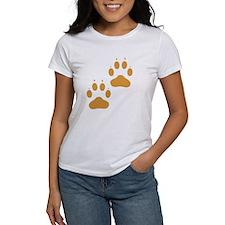 Brown Pawprints T-Shirt
